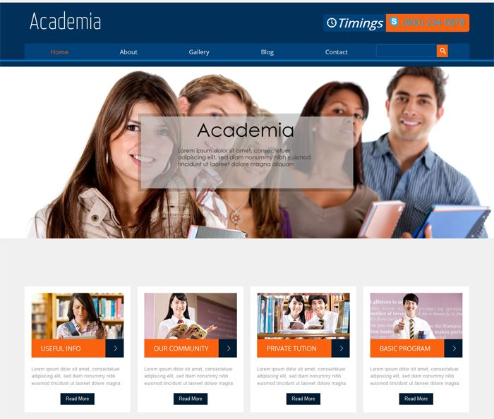 18+ Free Responsive Education HTML Web Templates | HTML Templates ...