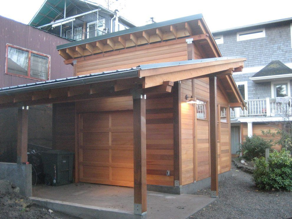 angled roof garage asian with seattle movers Shed roof