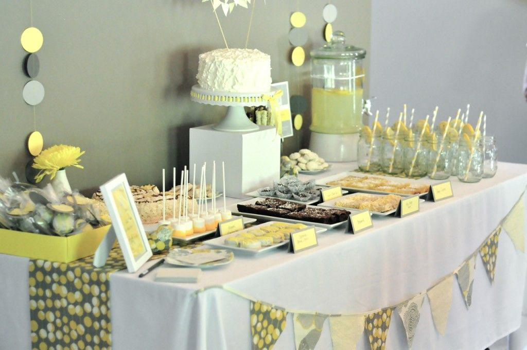 Gray And Yellow Baby Shower Project Nursery Baby Shower