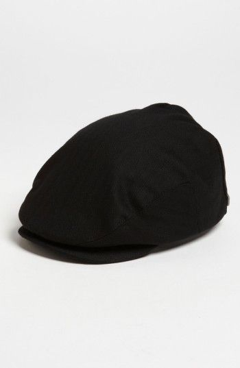 Brixton Men s  Hooligan  Driving Cap - Black  82920a4acad