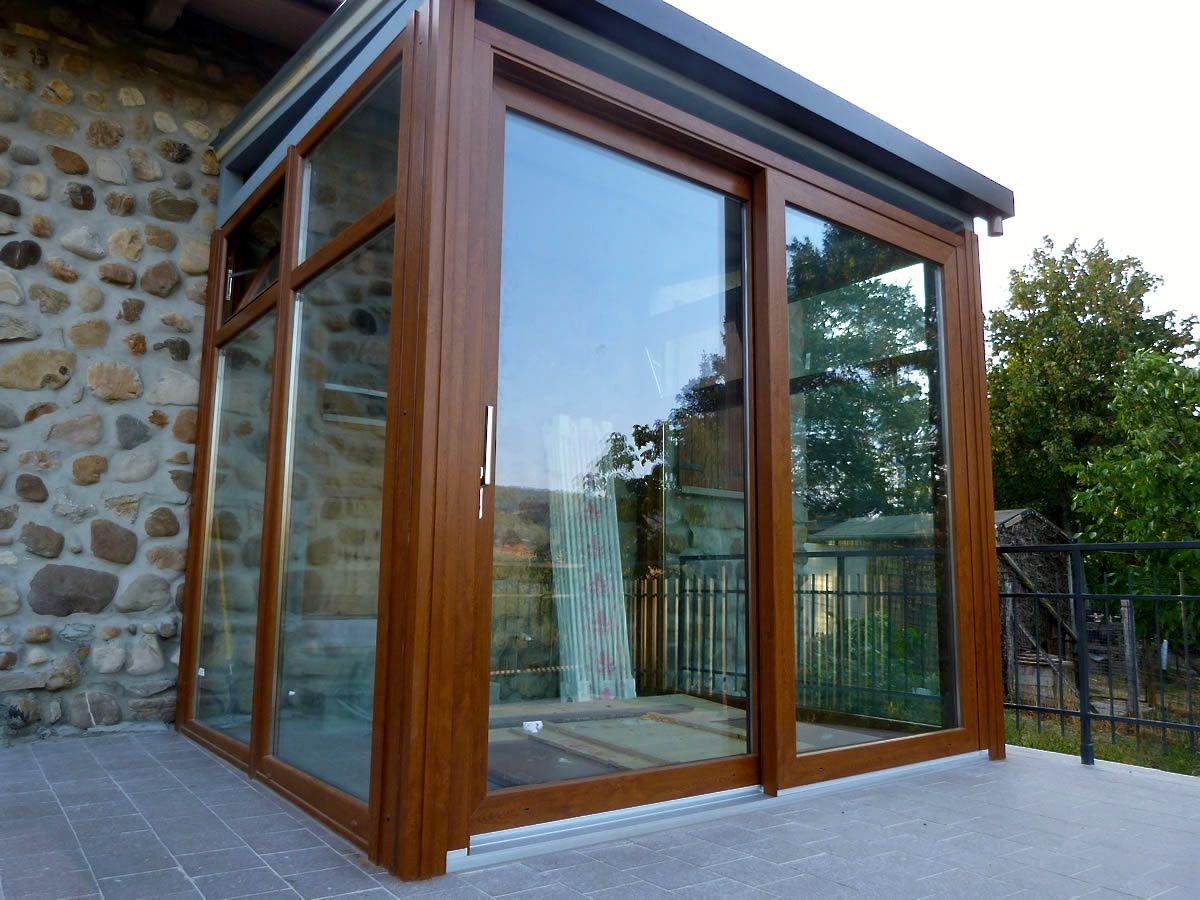 Verande mobili ~ Vetri scorrevoli per esterni. verande chiuse con vetrate