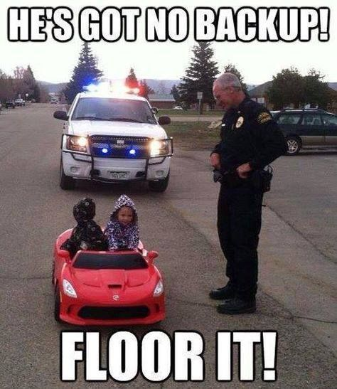He's Got No Back Up #cops #policeman #drive #driving #pullover #aww #adorable #adorabo http://buff.ly/1DVeMQ2