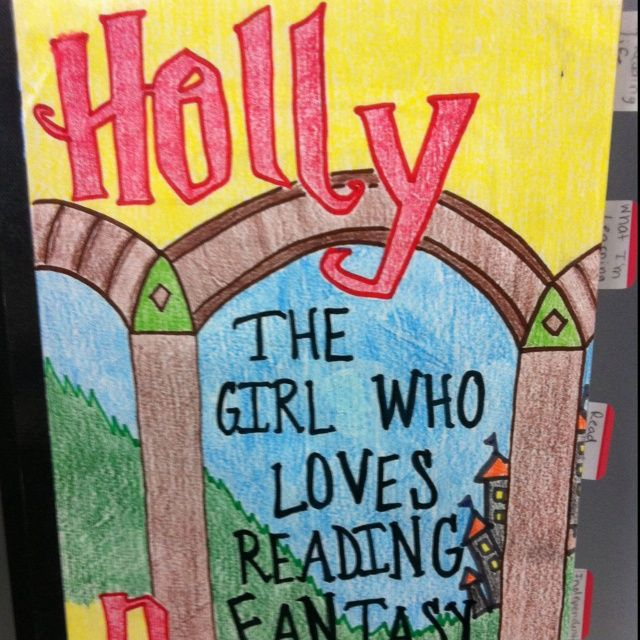 decorate reader's notebooks to look like a book cover that