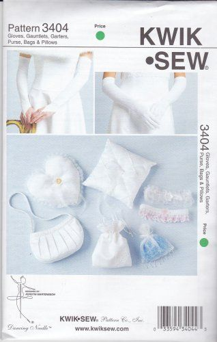 Kwik Sew Sewing Pattern 3404 Misses Wedding Accessories Gloves Ring ...