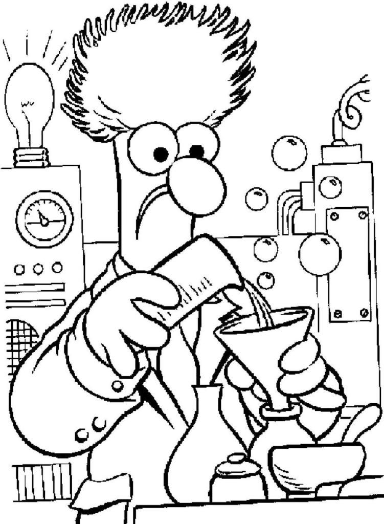 Cartoon Chemistry Coloring Page For Students And Teachers Cartoon Coloring Pages Love Coloring Pages Cool Coloring Pages