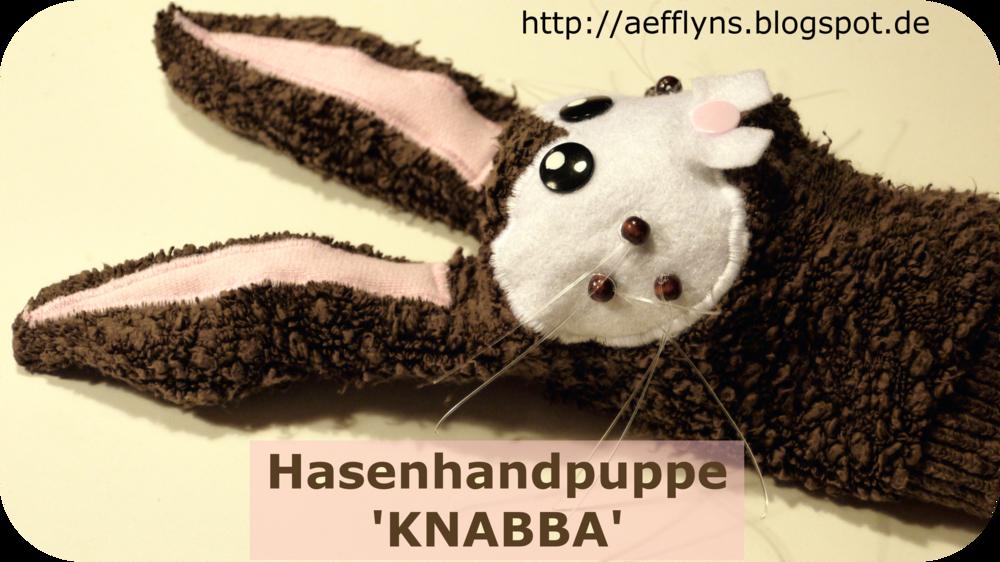 kostenlose Anleitung und Schnittmuster Hasenhandpuppe Knabba aus ...