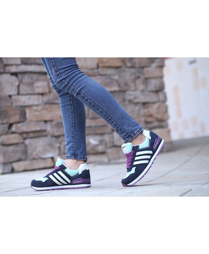 lowest price fcc94 ba038 Adidas Neo Adidas Runeo 10K Mesh Light Cyan Purple Trainer