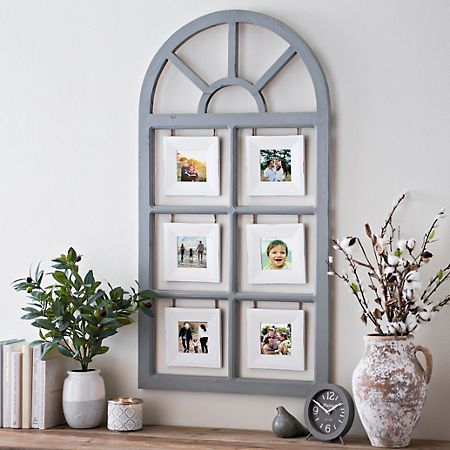 Overton Arch Windowpane Collage Frame Rustic Frames Farmhouse Picture Frames Wall Decor
