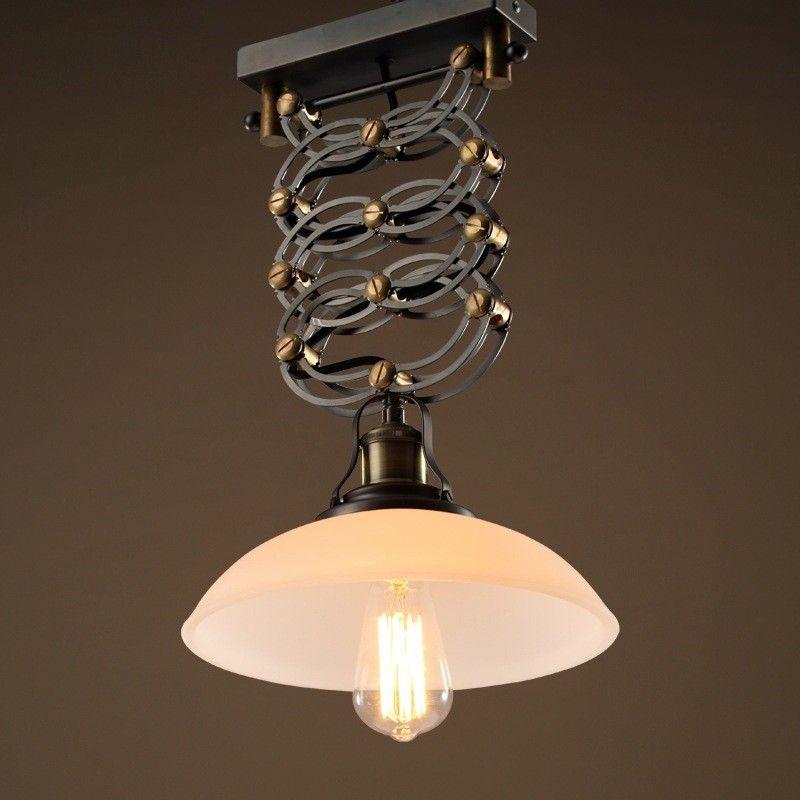 Thonia Retractable Saucer Shade Single Light Pendant Lighting Fixture Pendant Lights Ceiling Single Pendant Lighting Pendant Light Fixtures Dining Lighting