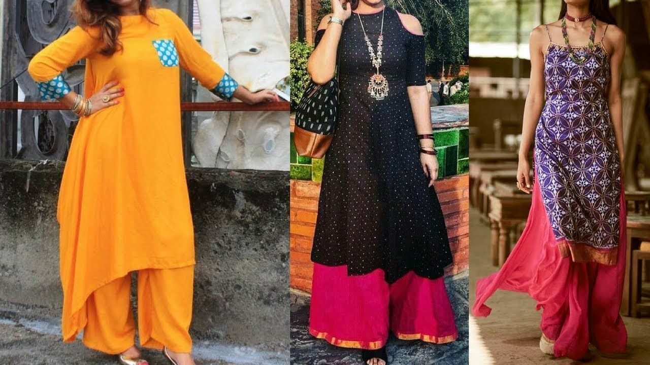 1f8384ad1f Long Kurti With Palazzo Ideas For Office Wear || Plazo Kurti Designs For.