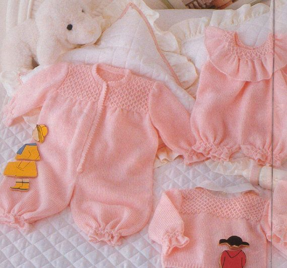 Pdf Vintage Knitting Pattern A Super Large Baby Layette All The