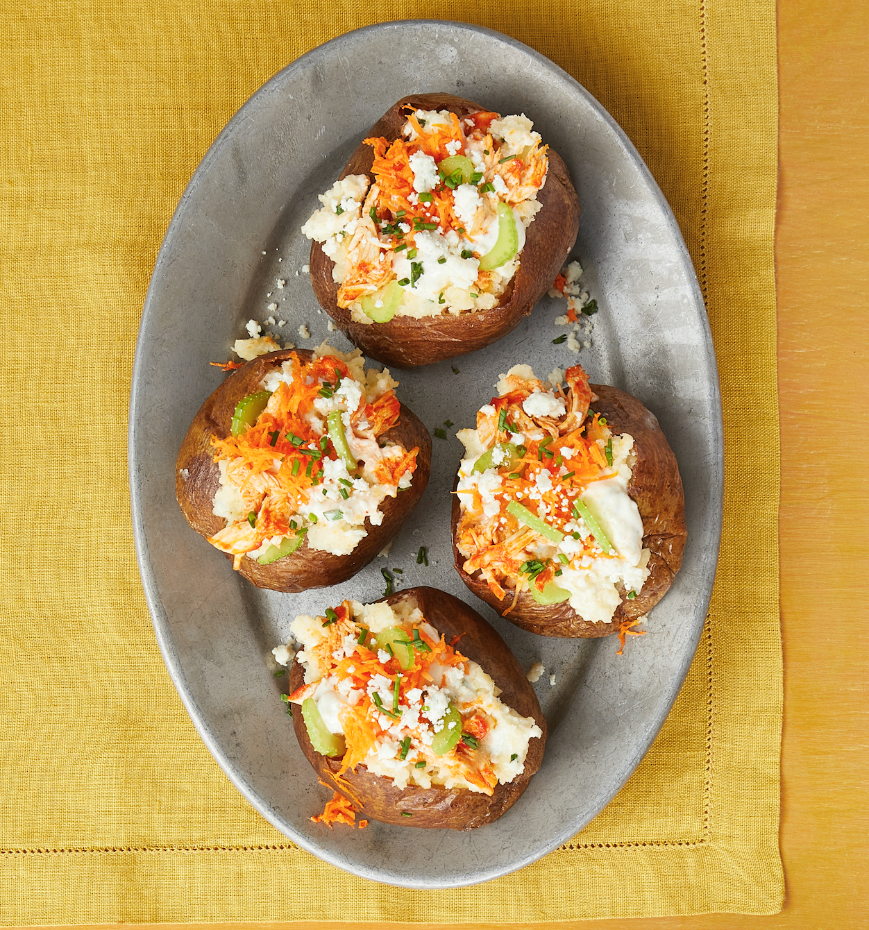 These Buffalo Chicken Baked Potatoes Are a Dreamthepioneerwoman