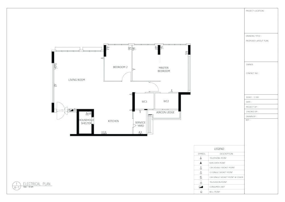 Electrical Plan For House How To Plan Lighting And Electrical Works For Your House Com Electrical Plan For 3 Bedr In 2020 Electrical Plan House Plans Electrical Layout
