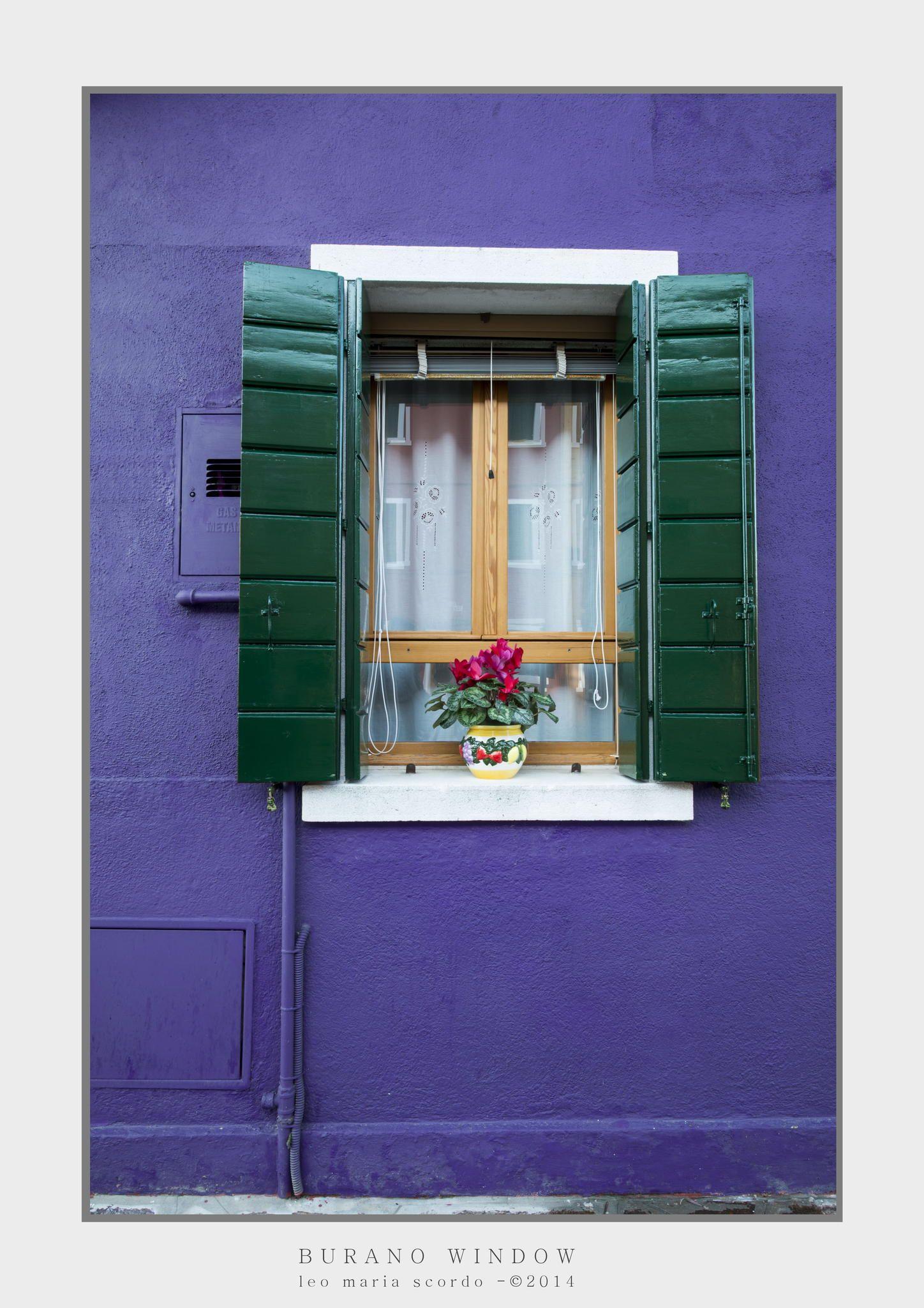 BURANO WINDOW by Leo Maria Scordo