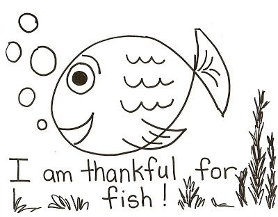 Lds Nursery Color Pages 11 I Am Thankful For Fish Lds Nursery