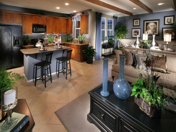 ▷ 1001 + ideas de decorar las cocinas abiertas al salón | Cocinas ...