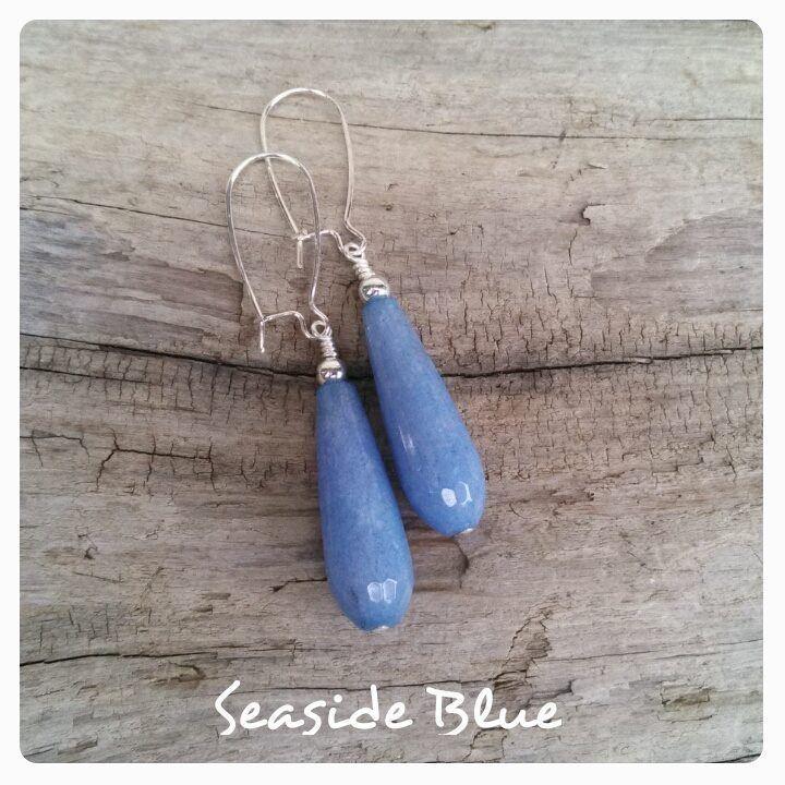 Jade Teardrop Earrings Seaside Blue More Colors to Choose From!