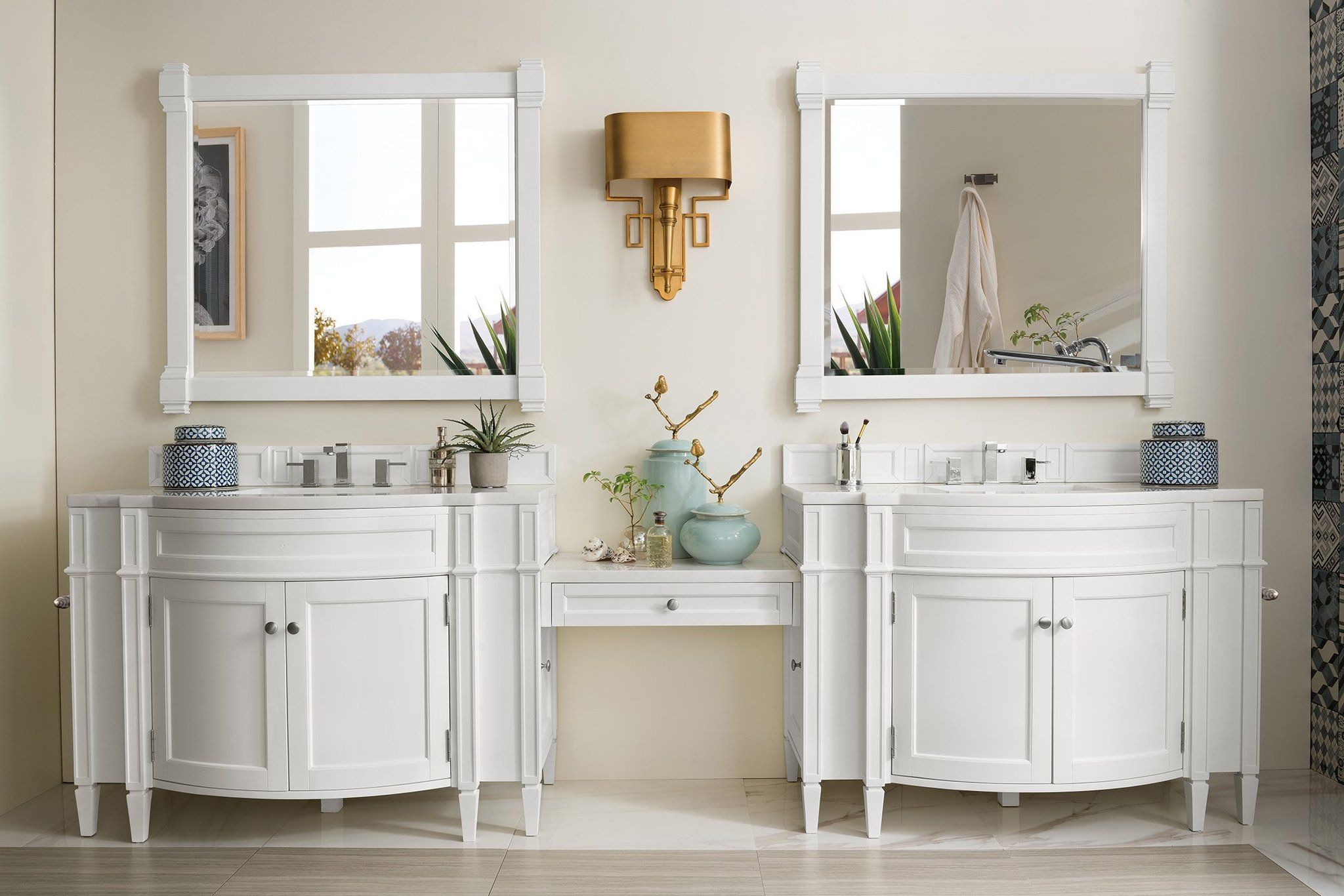 Brittany 118 Cottage White Double Vanity James Martin Vanity Double Vanity Double Vanity Bathroom Vanity [ 1366 x 2048 Pixel ]