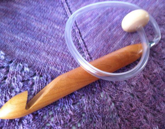 """ChiaoGoo5124-T Size S 24"""" inches ChiaoGoo Jumbo Flexible Tunisian Crochet Hook Moso Bamboo. $20.00, via Etsy."""