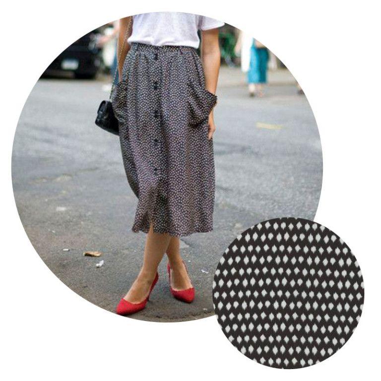 longer skirt wanted - drapey but not frumpy, elegant but daytime