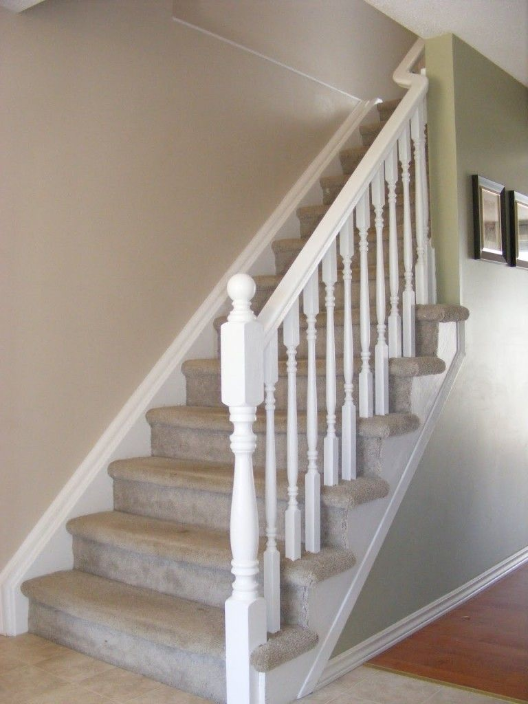 Simple White Stair Railing For Possible Second Story