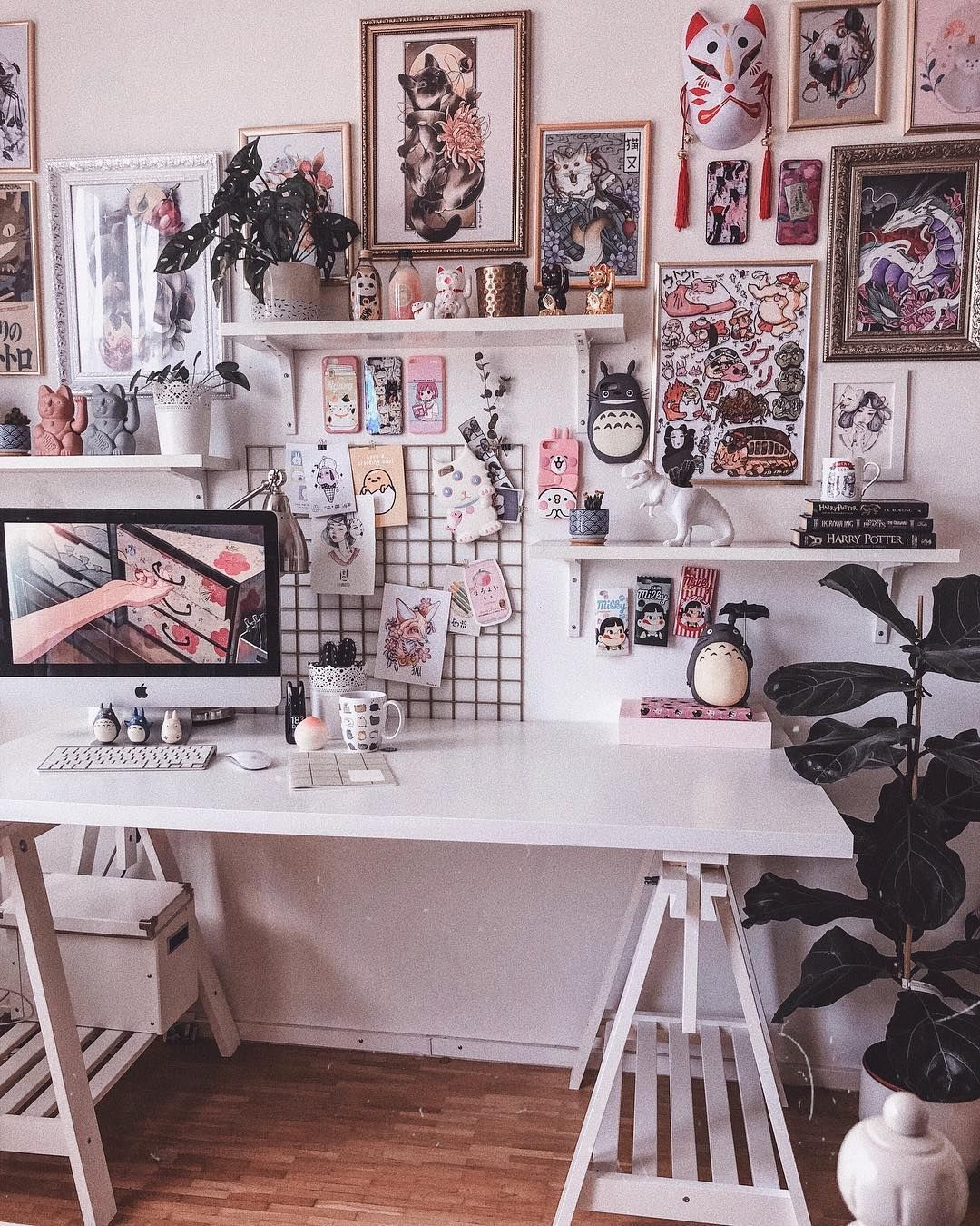 Otaku room, Aesthetic room decor, Cute room decor