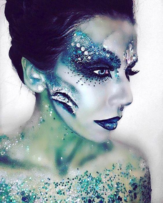 Disfraces Y Maquillaje Artistico Rosario Contreras Maquillaje De Sirena Sirenas Malvadas Pinturas Faciales