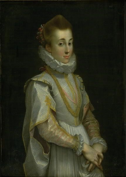 "Federico Barocci (ca. 1535-1612), ""Portræt af en ung dame"", ca. 1600.  Statens Museum for Kunst / National Gallery of Denmark. http://www.smk.dk/index.php?id=1132"