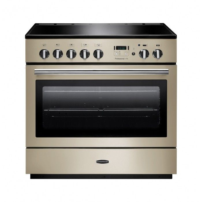 Rangemaster 91120 Professional FX 90cm Dual Fuel, Single Oven Range Cooker in Cream and Chrome. Call 01302 63 88 05 for prices.