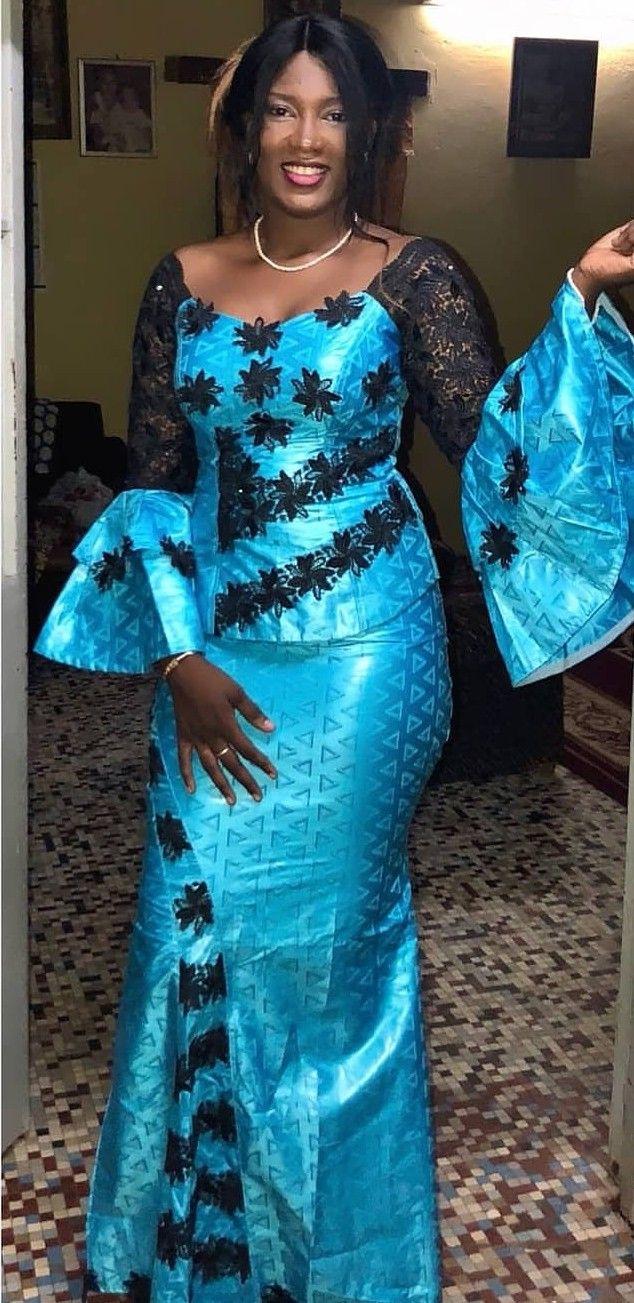 Image du tableau Sénégalaise de Merry Loum | Mode africaine robe, Robe africaine en dentelle ...