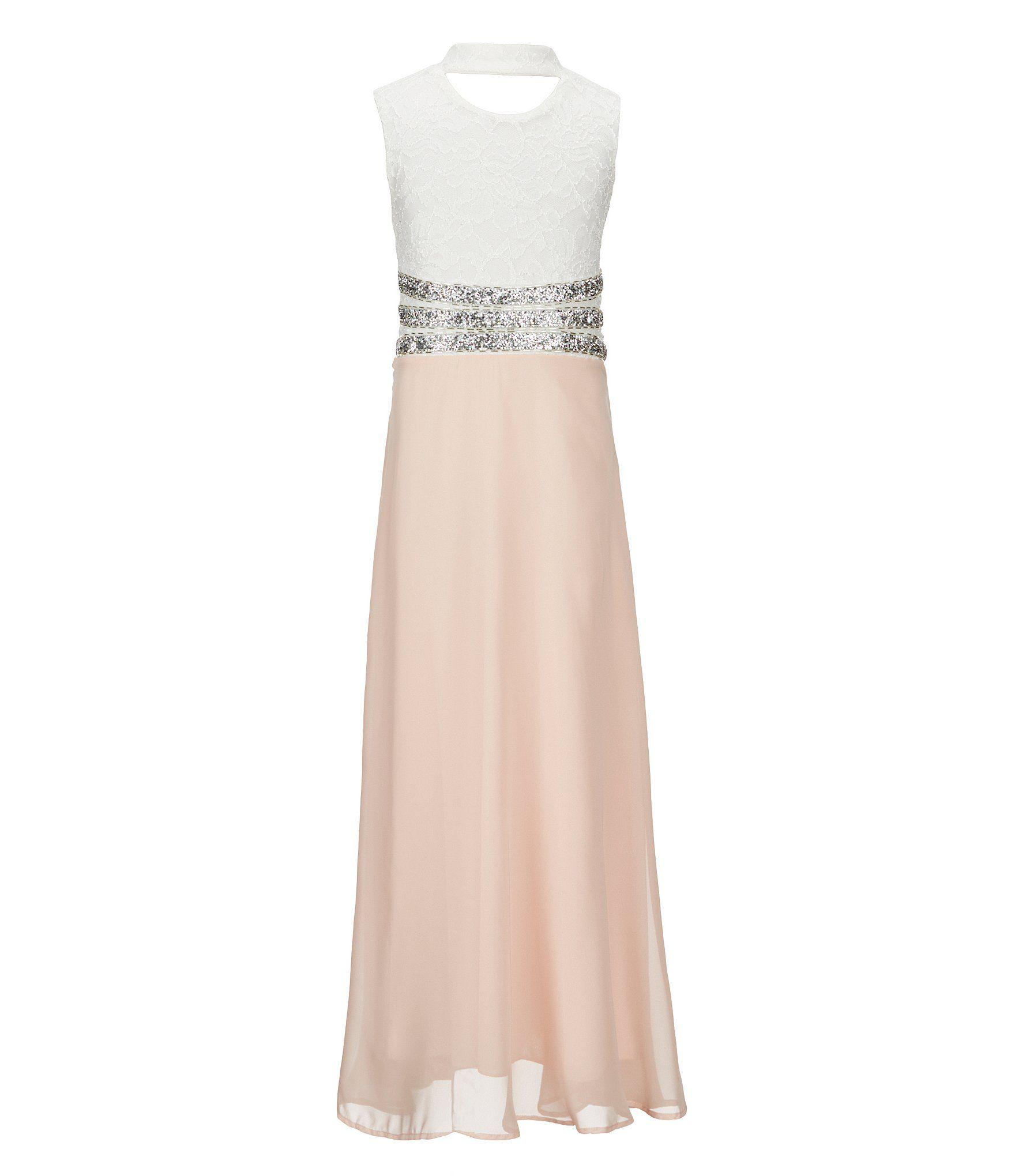Xtraordinary big girls lace rhinestonewaist dress wedding