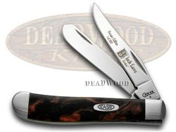 CASE XX Black Lava Genuine Corelon 1/500 Mini Trapper Pocket Knife - CA9207BKL | 9207BKL - 026615424123