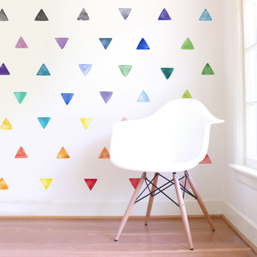 3 Sizes 60 Triangle Wall Stickers Decal Childrens Room Kids Vinyl Art Decor