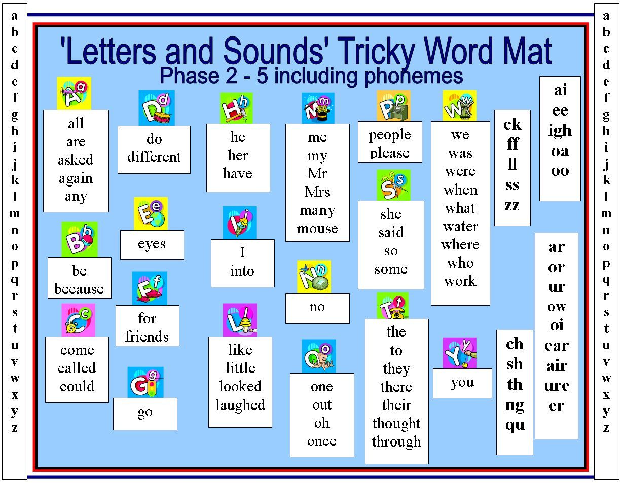 Tricky Word Mat