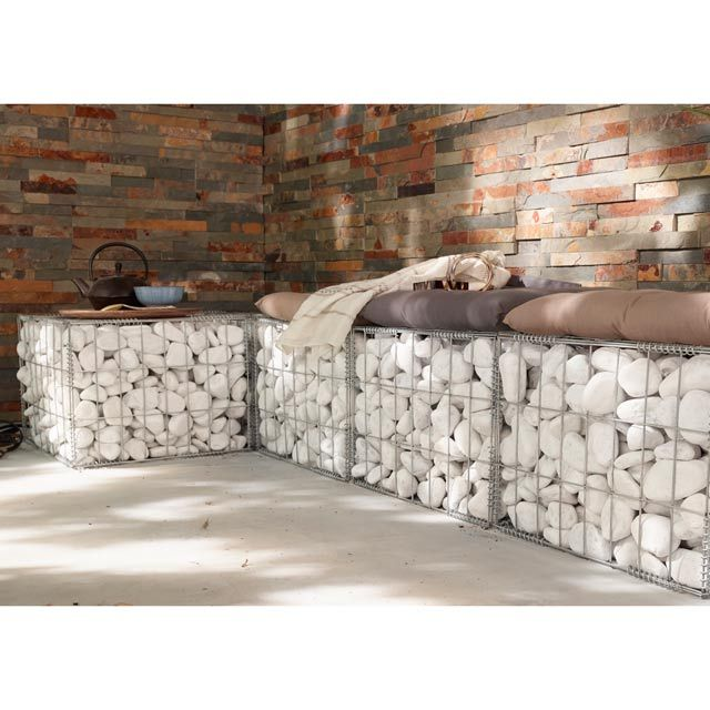 Kit gabion castorama screens et palissades pinterest for Pierre bordure castorama