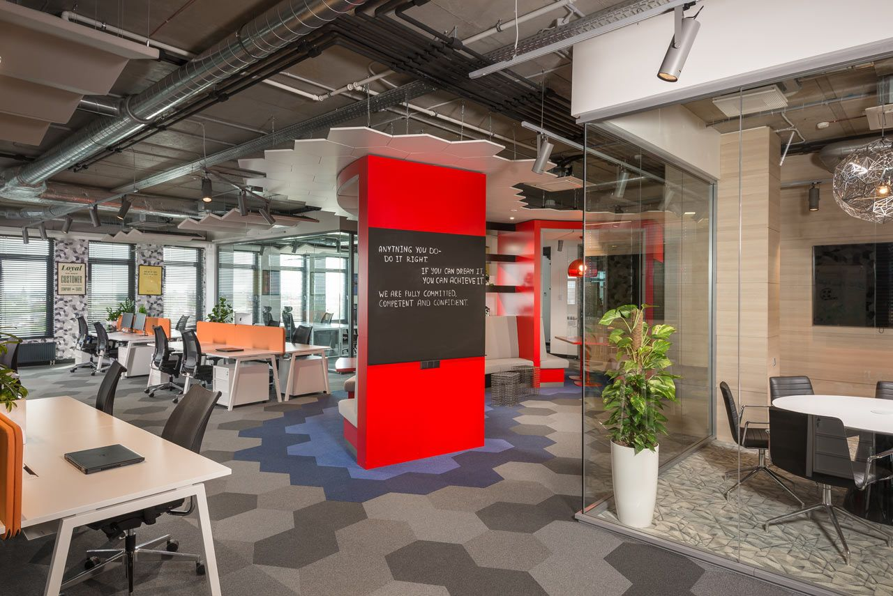 A Modern Tech Office in Latvia Featuring Bold Details and ...