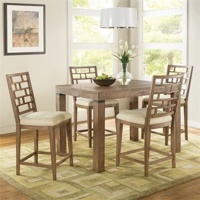 Shop For The Riverside Furniture Mirabelle 5 Piece Counter Height Table And Chair Set At Mattress