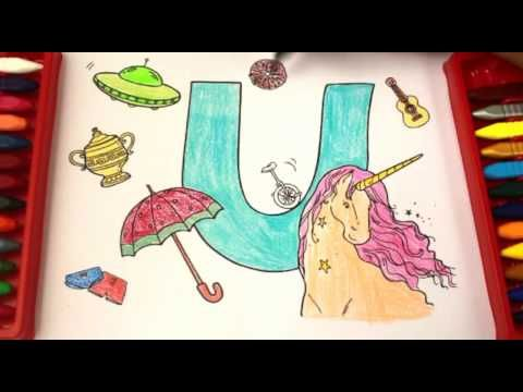 Colouring Pages For Toddlers Alphabet : Coloring and learning letter u super simple abcsalphabet for