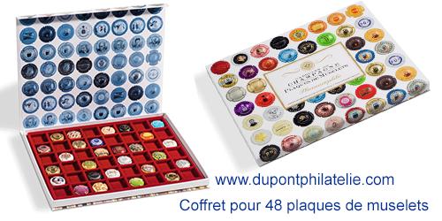 Coffret Carton Pour 48 Plaques De Muselet De Champagne Capsule De Biere Plaque Coffret