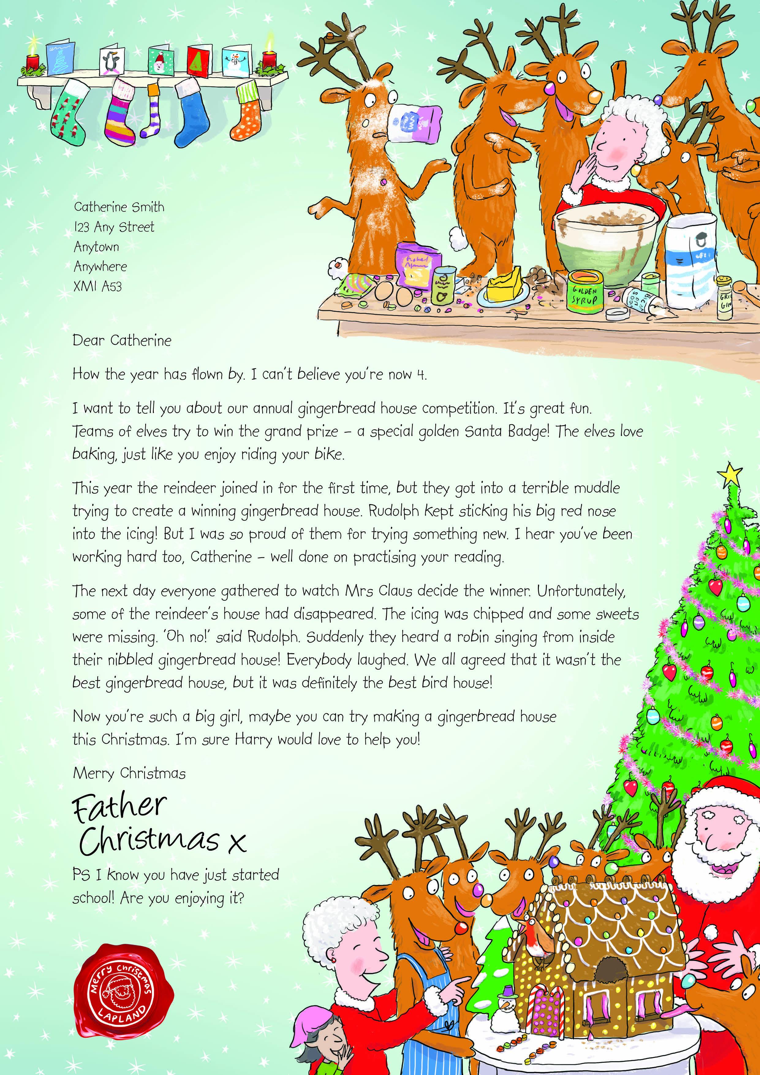 NSPCC Letter from Santa (2013) Santa letter, Christmas
