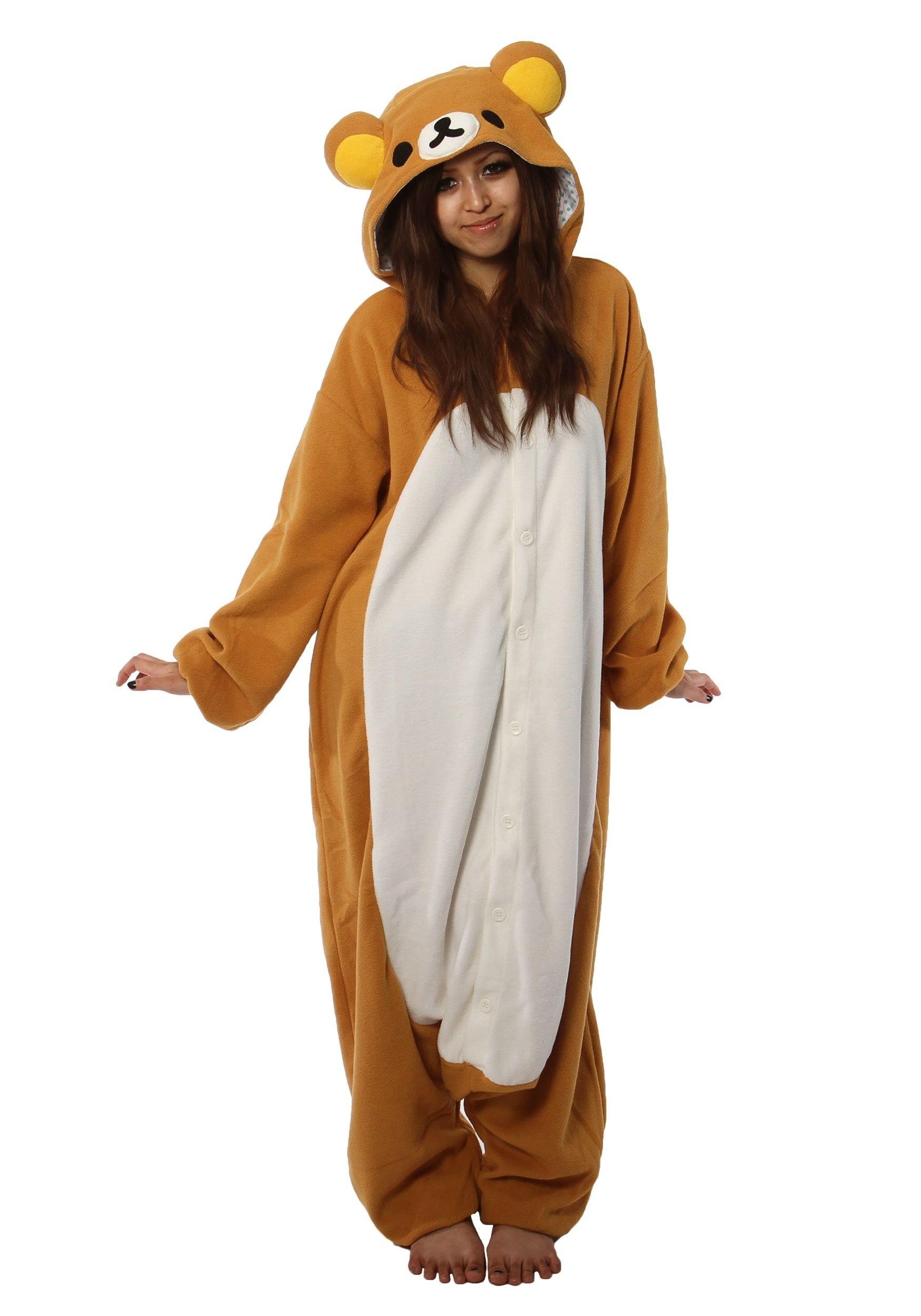 Adult rilakkuma kigurumi pajama costume costumes