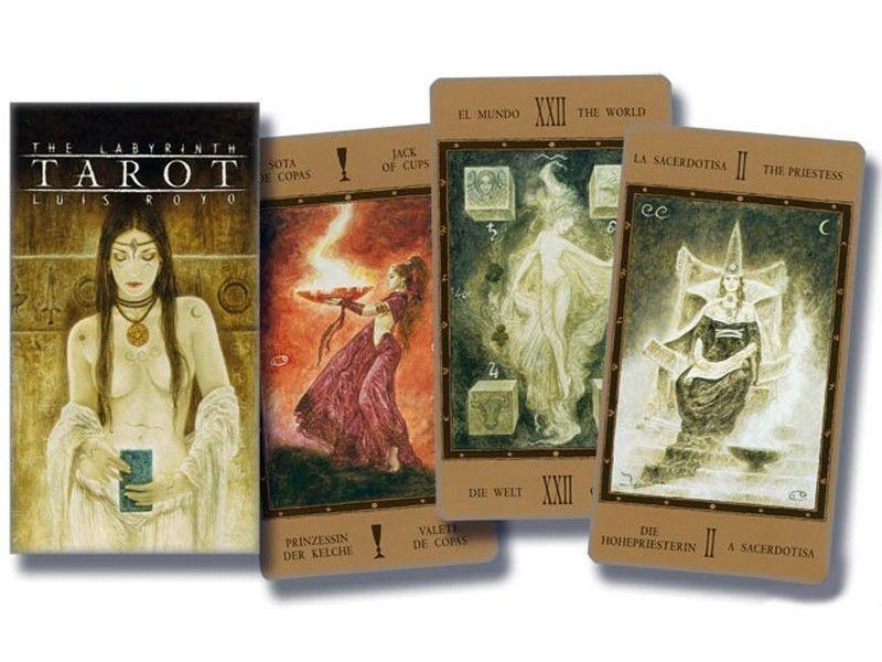Labyrinth Tarot Cards Deck Fournier Luis Royo Telling Esoteric New Tarot Card Decks Tarot Fantasy Art
