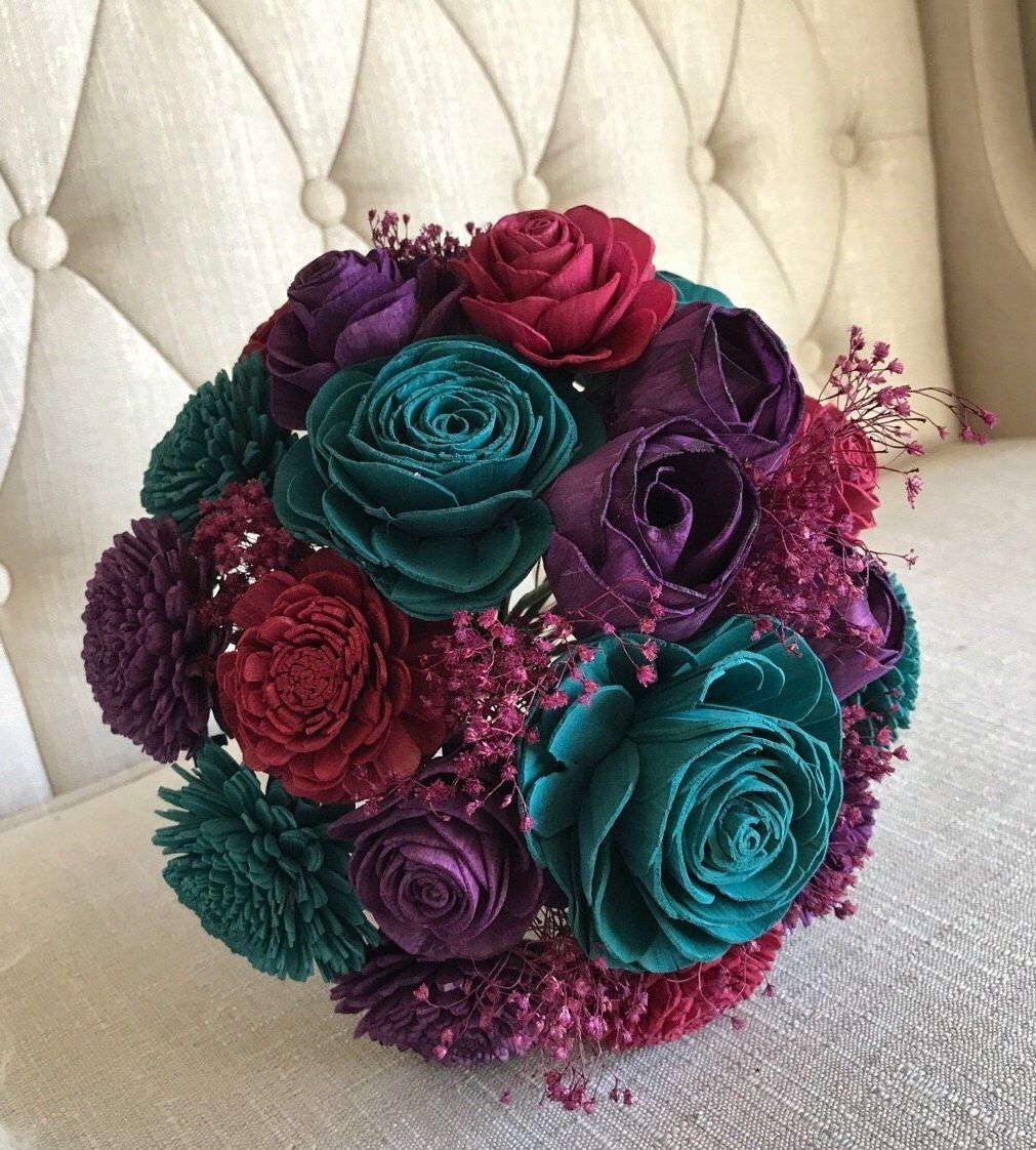Jaded Bouquet Wooden Flowers Forever Flower Bouquet