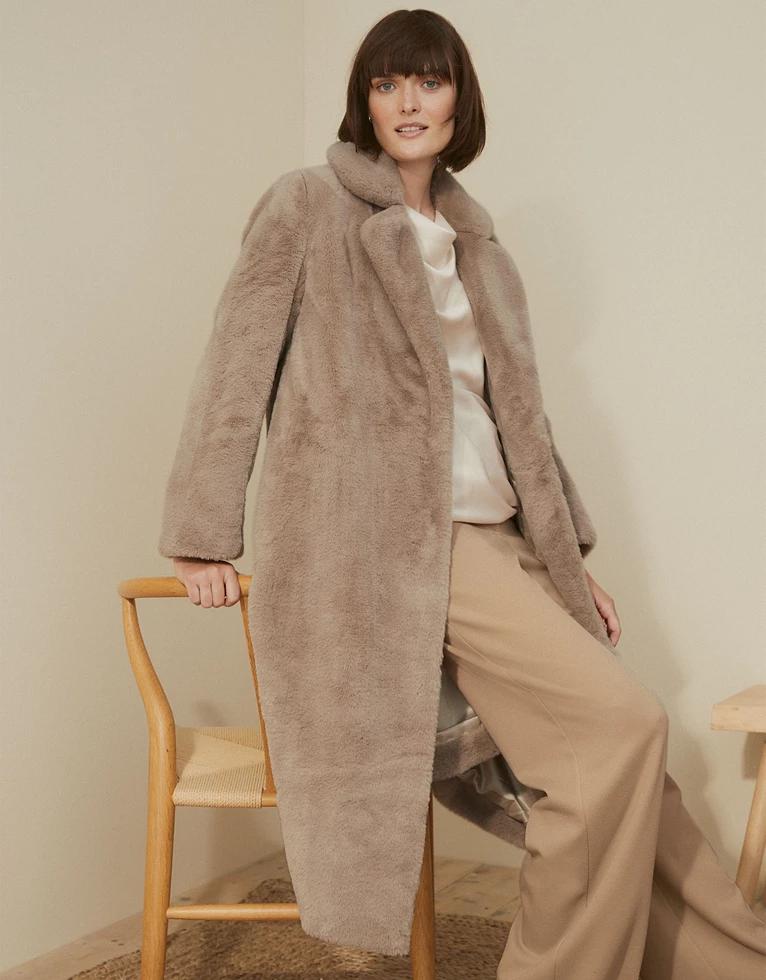 Long Faux Fur Coat Jackets Coats, Faux Fur Coat Company
