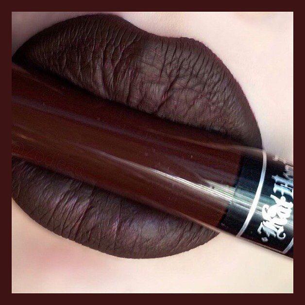 New makeup day! Kat Von D Everlasting Liquid Lipstick in Damned ...