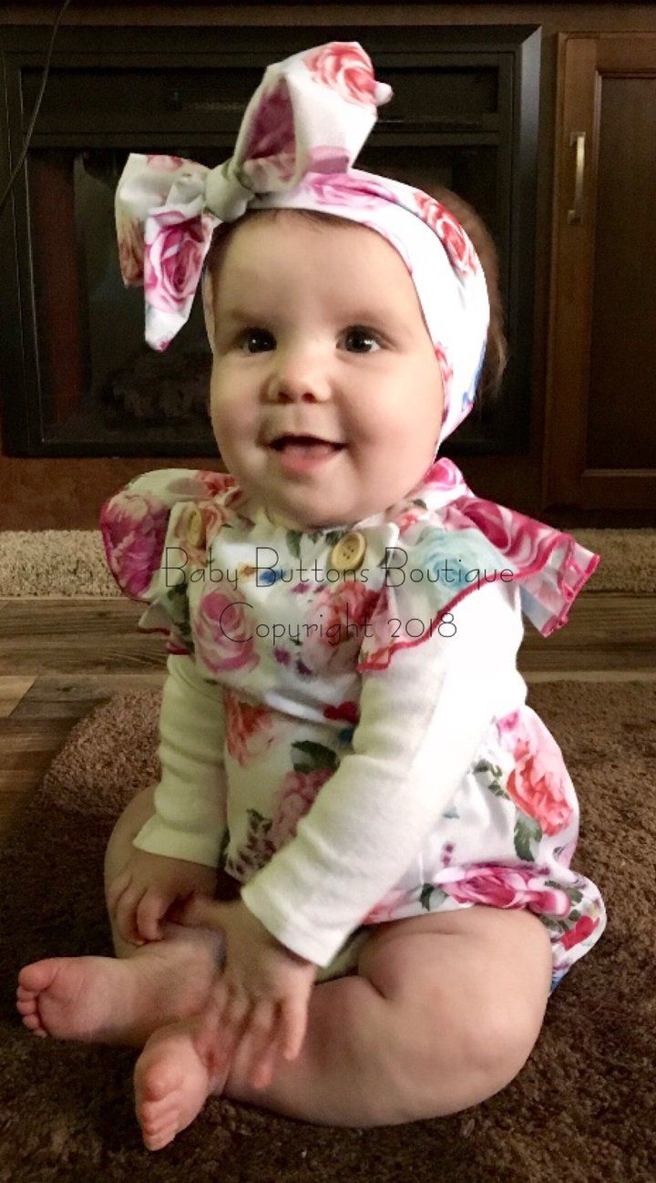 f1f32905b9a This romper and head wrap have quickly become a favorite item at Baby  Buttons. The