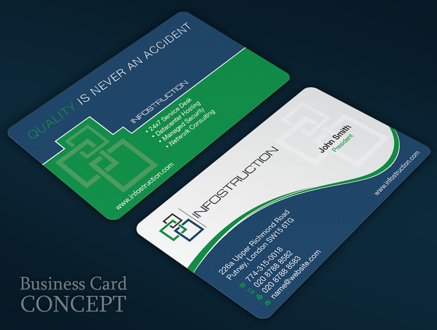 freelance Business card for IT consulting company with a strong ...