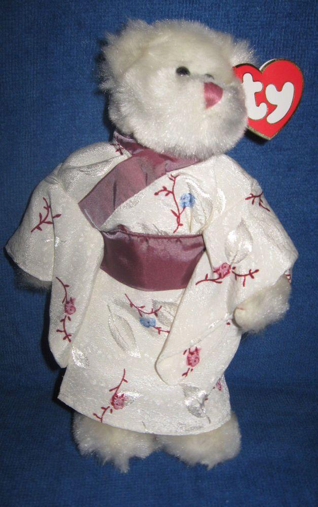 Ty Beanie Baby Attic Treasures Coll 1993 White Bear Asian Kimono Suki 8