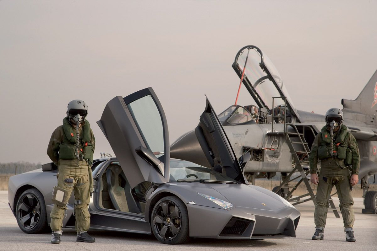 Lamborghini Reventon And A Fighter Jet. If I Ever Get To Drive/fly Anything  Resembling These Two In A Single Day, It Might Be The Best Day Of My Life.