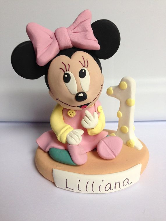 Minnie Mouse Birthday or Baby Shower Cake Topper and Keepsake